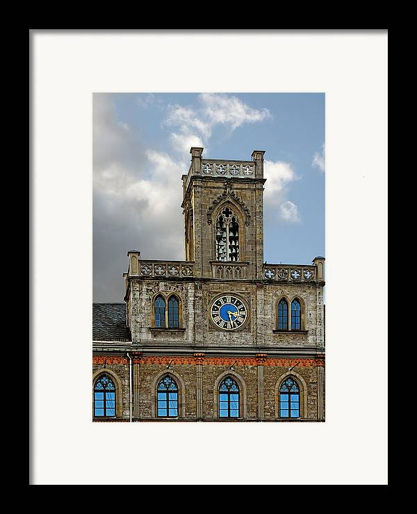 Weimar Framed Print featuring the photograph Neo-gothic Weimarer City Hall by Christine Till