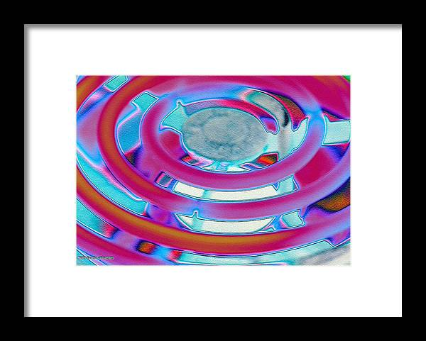 Neon Framed Print featuring the photograph Neon Burner by Michael Merry