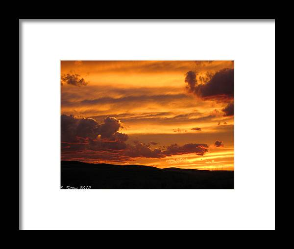 Country Photographs Framed Print featuring the photograph Neon Sky by C Sitton