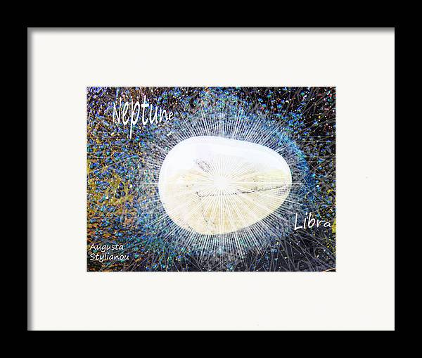 Barack Obama Painting Framed Print featuring the photograph Neptume In Libra by Augusta Stylianou