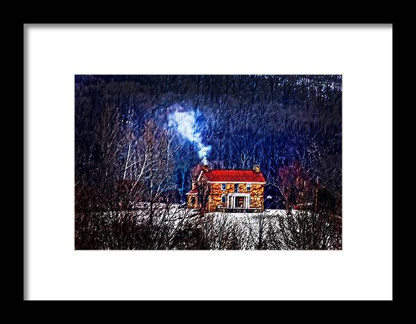 Old Stone Framed Print featuring the photograph Nestled In For The Winter by Randall Branham