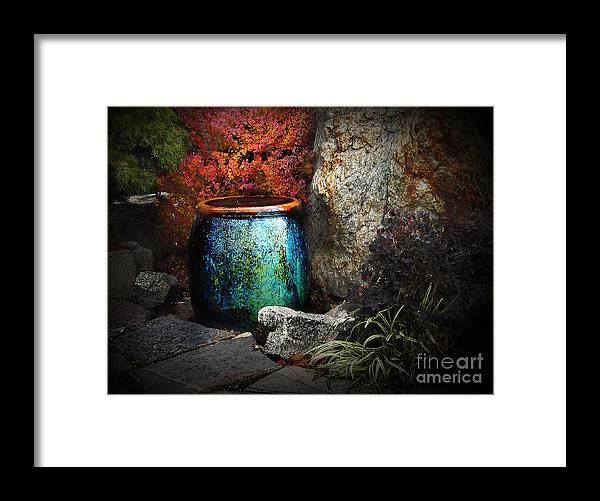 Fountain Framed Print featuring the digital art Nevada City Fountain by Lisa Redfern