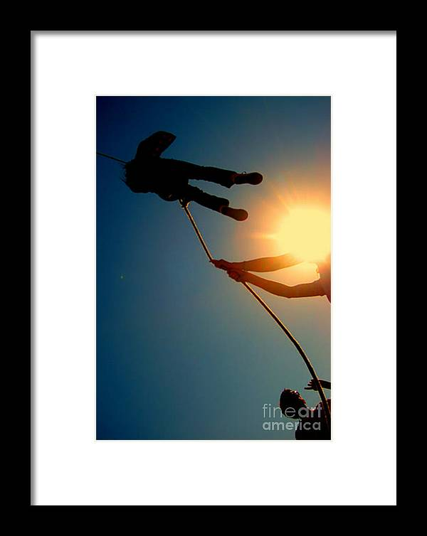 Rope Framed Print featuring the photograph Never Let Go by Norah Fairlock