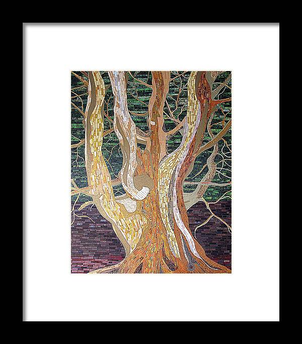 Tree Framed Print featuring the mixed media New Born by Claudia French