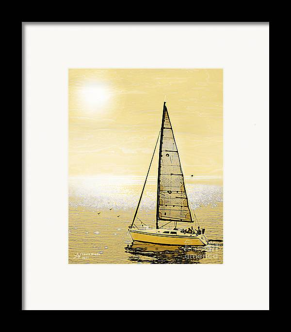 Sailing Framed Print featuring the painting New Dawn by Artist and Photographer Laura Wrede