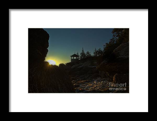 Maine Framed Print featuring the photograph New Day Dawning by Brenda Giasson