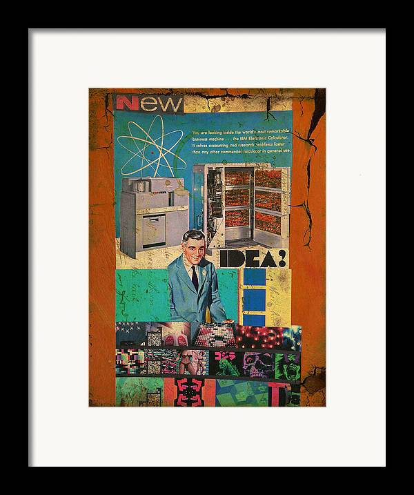 Collage Framed Print featuring the mixed media New Idea by Adam Kissel