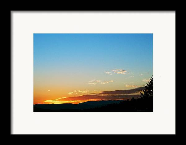Sunset Framed Print featuring the photograph New Lazy Summer Day by Kevin Bone