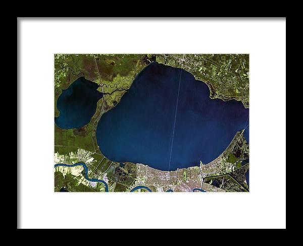 Lake Pontchartrain Framed Print featuring the photograph New Orleans Before Hurricane Katrina by Planetobserver