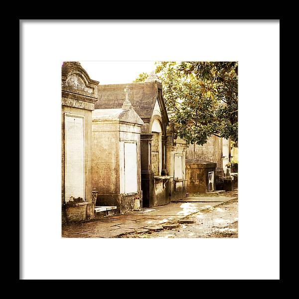 New Orleans Framed Print featuring the photograph New Orleans Lafayette Cemetery No.1 by Kim Fearheiley