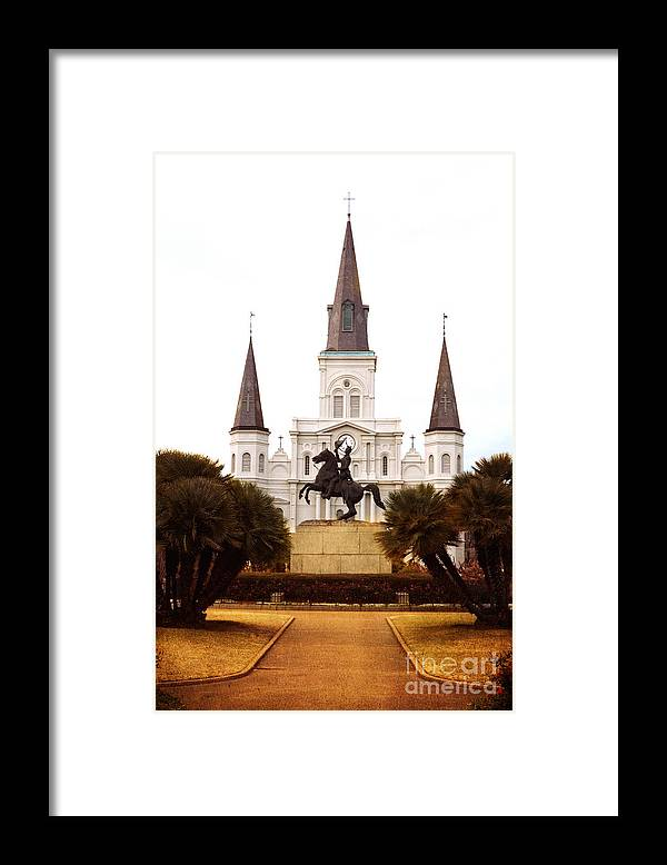 New Orleans Framed Print featuring the photograph New Orleans St. Louis Cathedral by Kim Fearheiley
