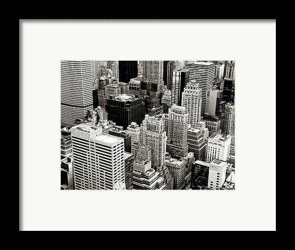 New York City Framed Print featuring the photograph New York City From Above by Vivienne Gucwa