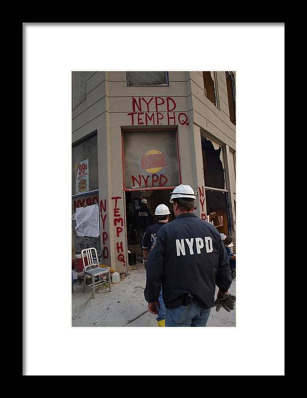 2000s Framed Print featuring the photograph New York Police Department Set by Everett