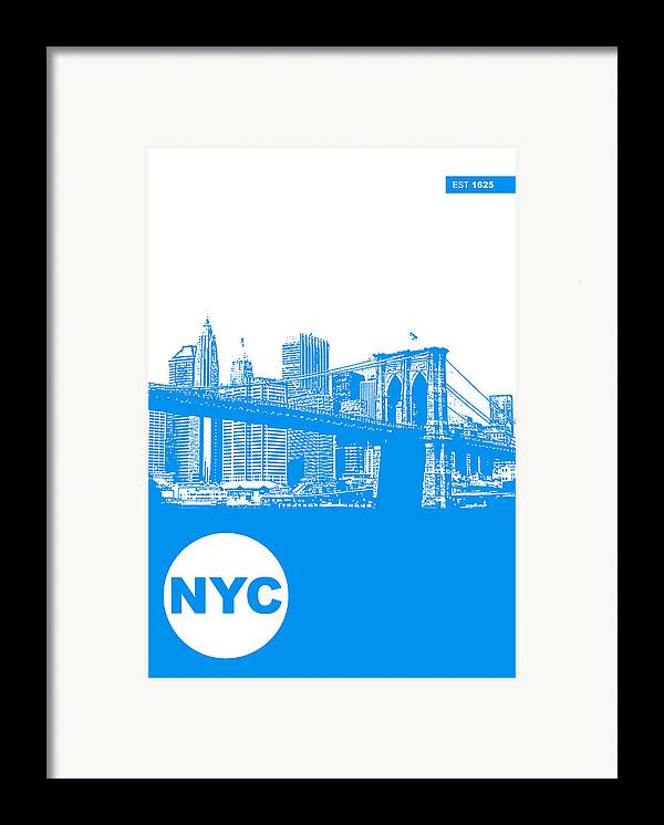 Framed Print featuring the photograph New York Poster by Naxart Studio