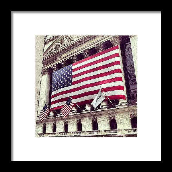 Europe Framed Print featuring the photograph New York Stock Exchange/wall Street by Randy Lemoine