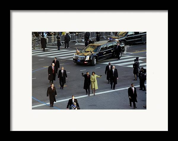 History Framed Print featuring the photograph Newly Inaugurated President by Everett