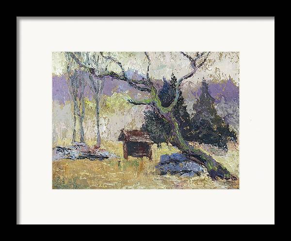 Art Works Framed Print featuring the painting Newsstand by Elena Liachenko