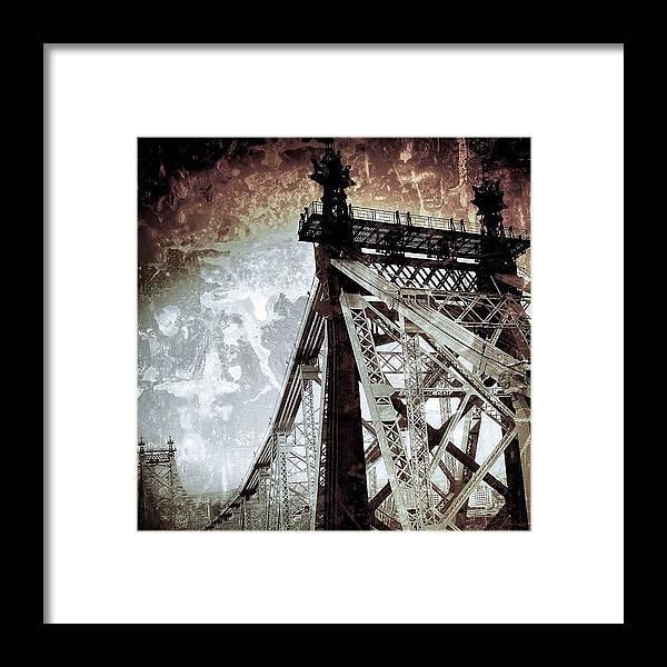 Bridge Framed Print featuring the photograph #newyorker #newyork #nyc #ny #bridge by Joel Lopez