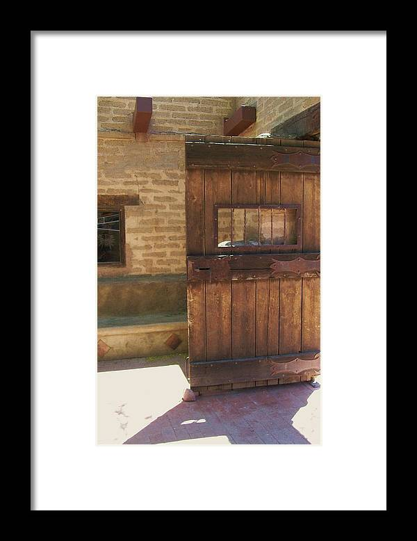 Framed Print featuring the photograph Nice Old Door by Kathleen Heese