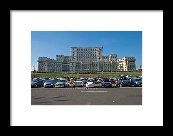 Palace Framed Print featuring the photograph Nicolae Chaushesku Palace by Artin Mikaelyan