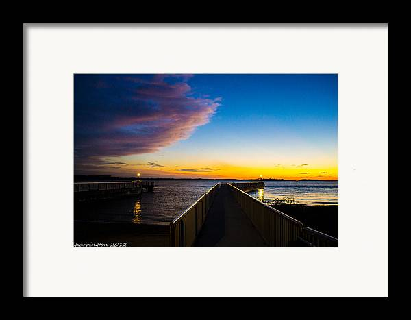 Pier Framed Print featuring the photograph Night Approaches by Shannon Harrington