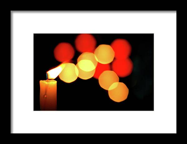 Abstract Framed Print featuring the photograph Night Breeze by John Banegas