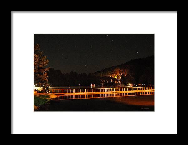 Bridge Framed Print featuring the photograph Night Bridge by Kay Lovingood