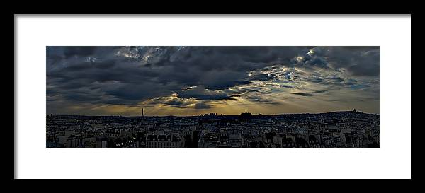 Paris Framed Print featuring the photograph Night Fall Mark IIi by Wessel Woortman