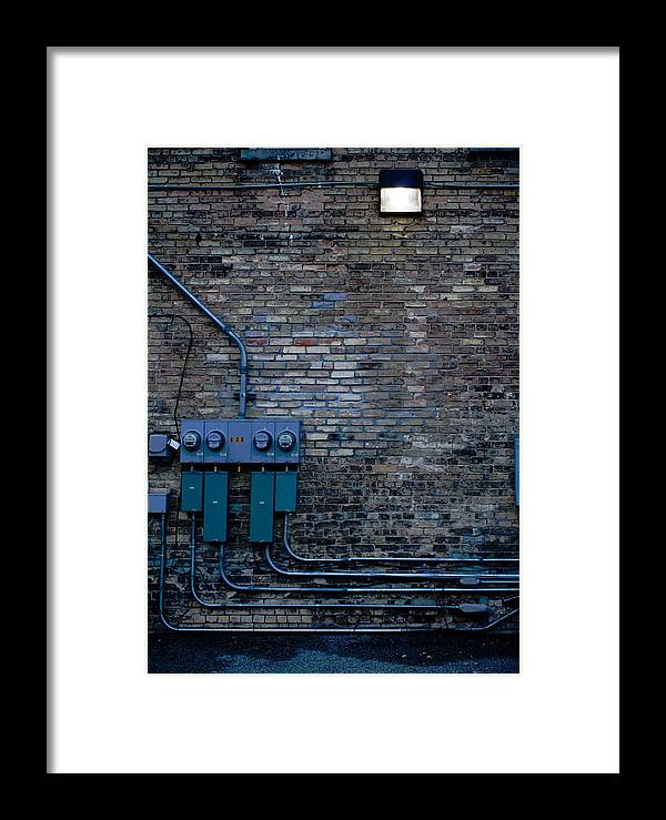 Light Framed Print featuring the photograph Night Light by Cara Rubley