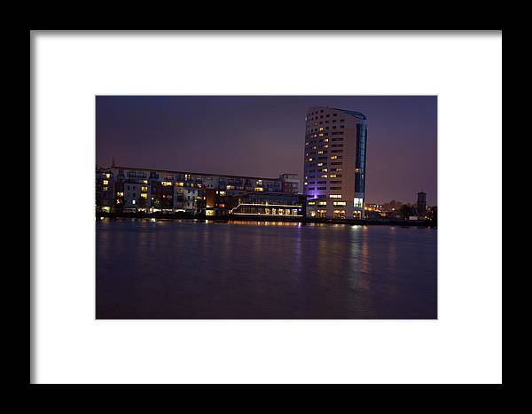 Landscape/ Limerick Framed Print featuring the photograph Night Lights by Ann O Connell