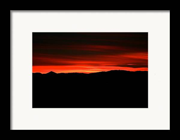 Sunset Framed Print featuring the photograph Night On Fire by Kevin Bone