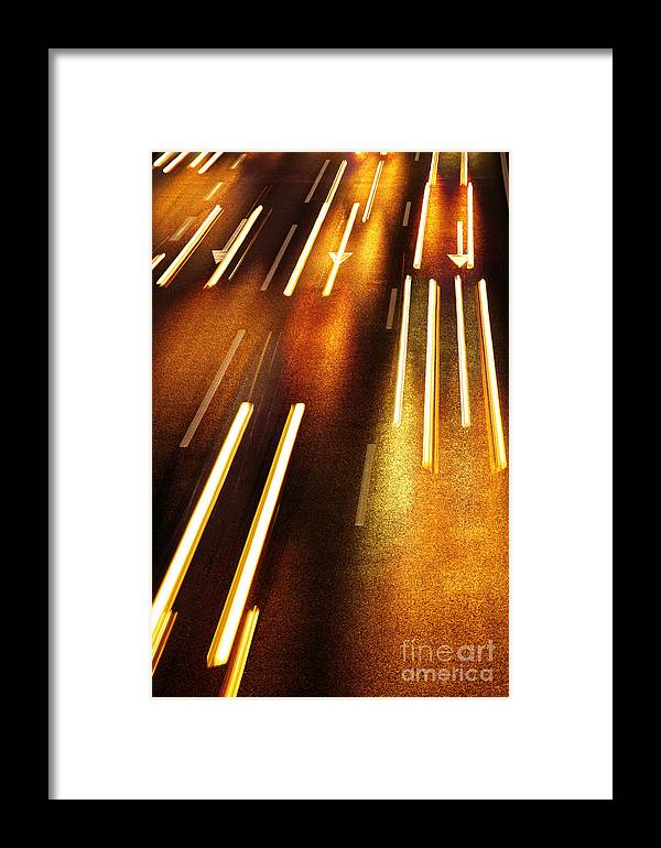 Asphalt Framed Print featuring the photograph Night Traffic by Carlos Caetano