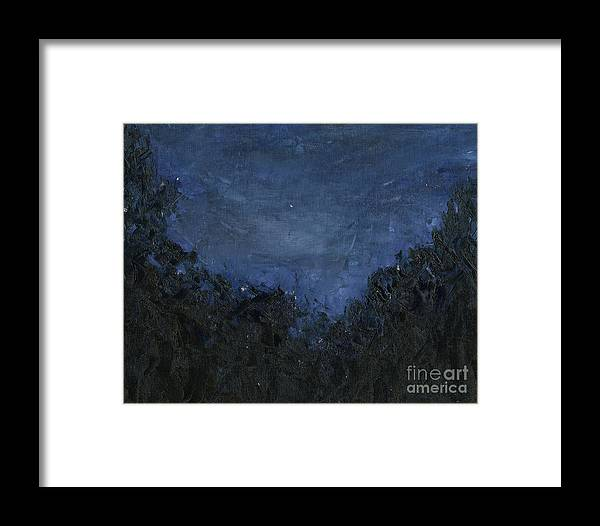 Nightscape Framed Print featuring the painting Night Visions by Sarah Howland-Ludwig