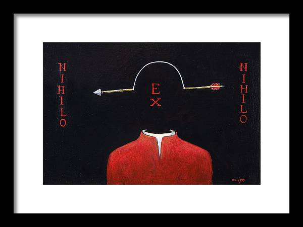 Arrow Framed Print featuring the painting Nihilo Ex Nihilo by Canis Canon