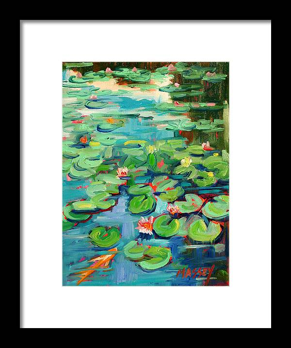 Water Lily Framed Print featuring the painting Niloofar by Marie Massey