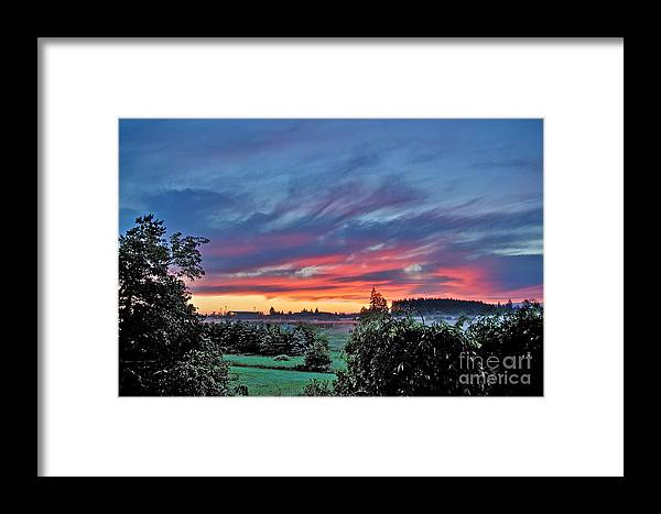 Photography Framed Print featuring the photograph Nisqually Valley Sunrise by Sean Griffin