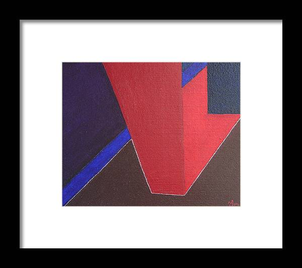 Geometrical Arrangement Framed Print featuring the painting No. 375 by Vijayan Kannampilly