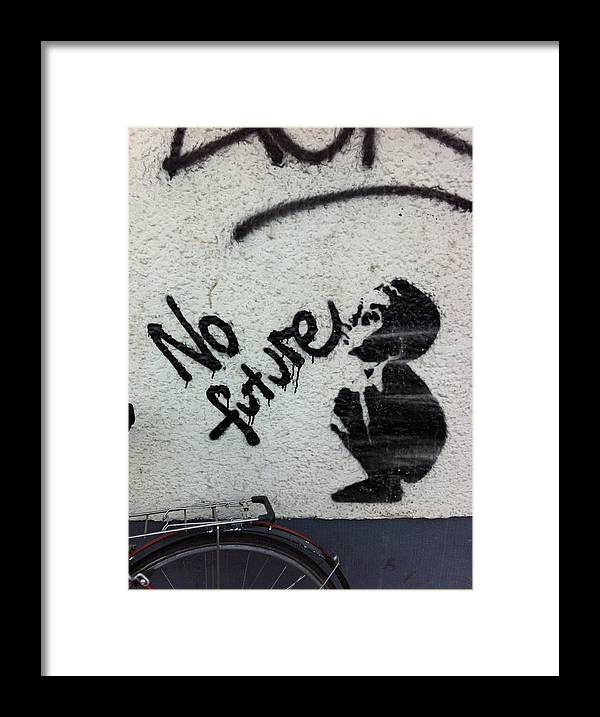 Street Art Framed Print featuring the photograph No Future by Adrian Buendia