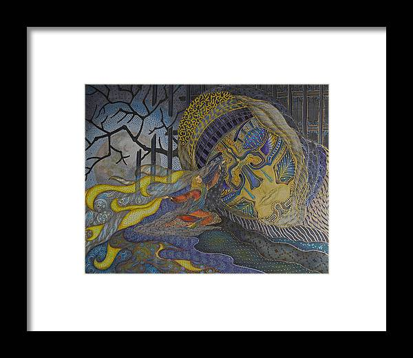 Illustrations Framed Print featuring the painting No More Fear by Ellie Perla