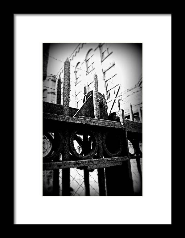 Framed Print featuring the photograph No by Tim Burgin