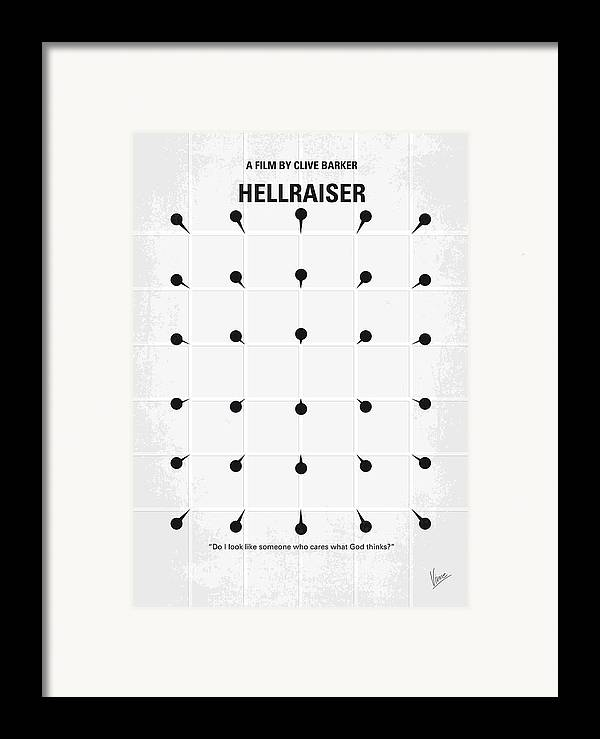 Hellraiser Framed Print featuring the digital art No033 My Hellraiser Minimal Movie Poster.jpg by Chungkong Art