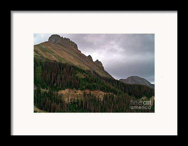 Nokhu Crags Framed Print featuring the photograph Nokhu Crags Colorado by Michael Kirsh