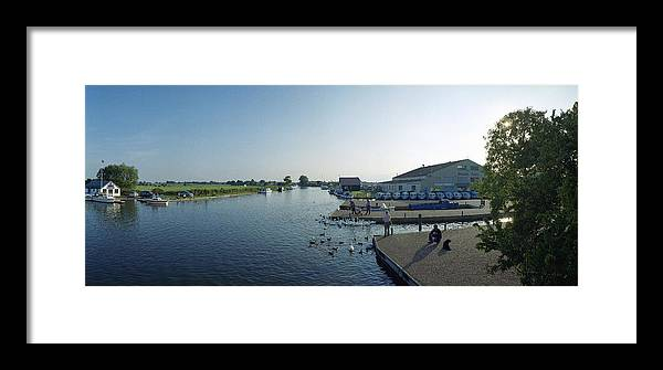 River And Wetlands Preservation Framed Print featuring the photograph Norfolk Broads by Jan W Faul