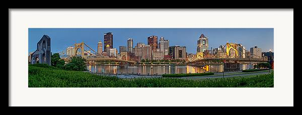 Pittsburgh Framed Print featuring the photograph Nor'side Pano by Jennifer Grover