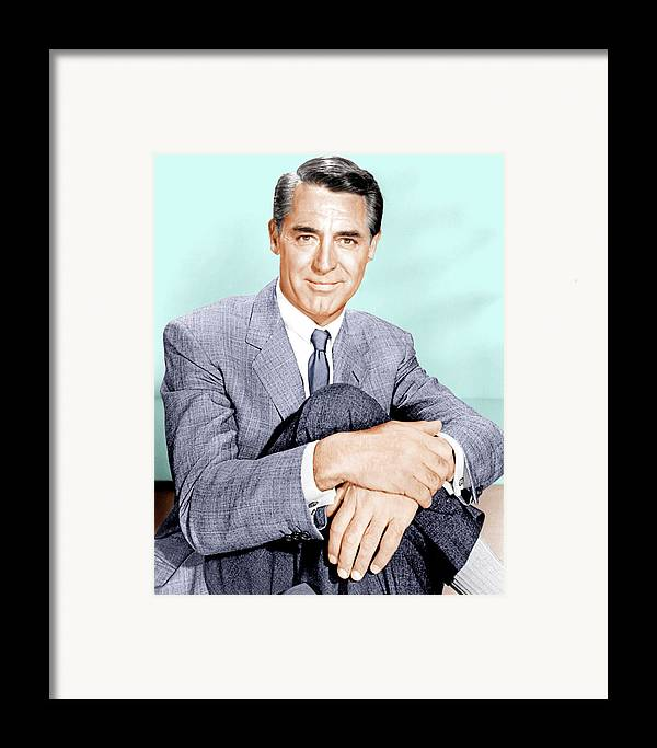 1950s Portraits Framed Print featuring the photograph North By Northwest, Cary Grant, 1959 by Everett