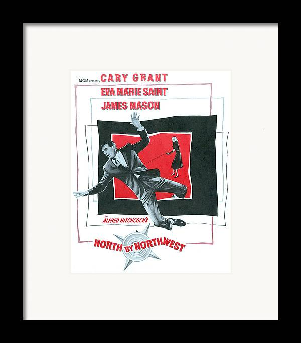 1950s Movies Framed Print featuring the photograph North By Northwest, Cary Grant, Eva by Everett
