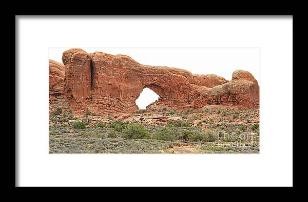 North Window Arch Framed Print featuring the photograph North Window Arch by Jack Schultz