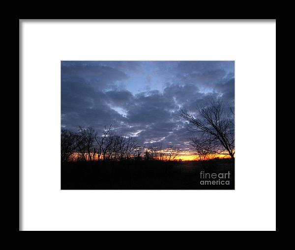 Landscape Framed Print featuring the photograph November Sunrise by Cedric Hampton