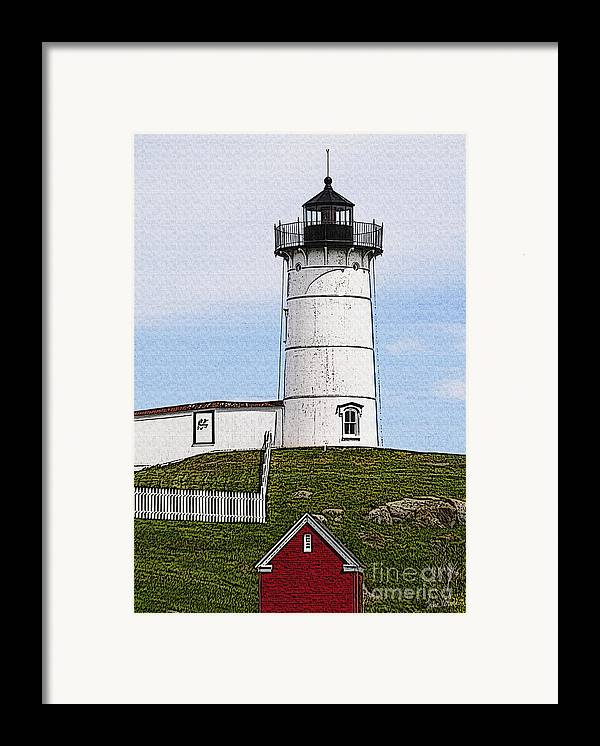 Cape Framed Print featuring the photograph Nubble Lighthouse- Canvas by Luke Moore