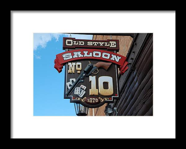 Saloon Framed Print featuring the photograph Number 10 Saloon by Dany Lison